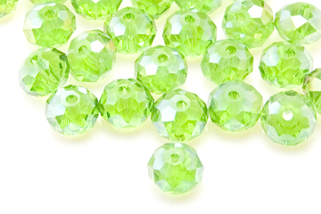 e42d67cc7e7aa Green AB Crystal 6mm Rondelle Bead (50 Pack)